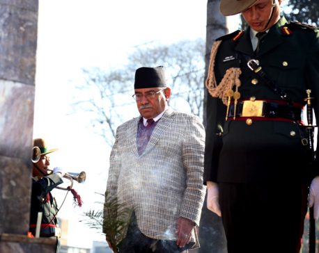 PM lays wreath at Martyrs' Memorial Park