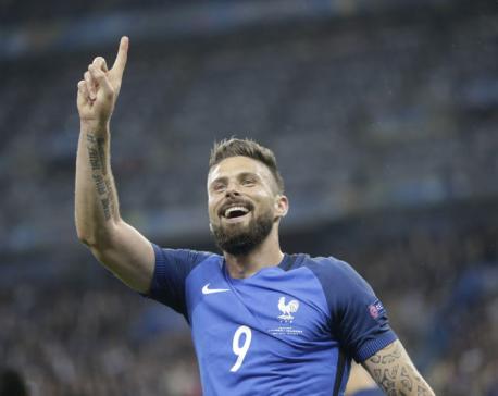 Striker Giroud says France want revenge on Germany