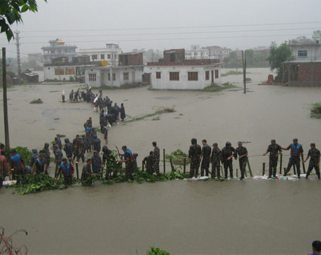 Flood hits Eastern Nepal