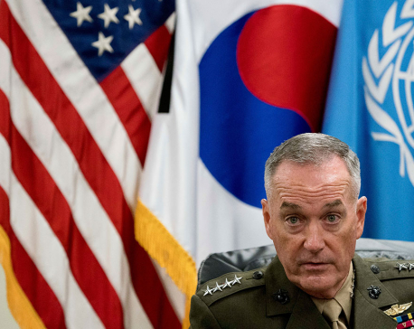 Top US officer warns NKorea that military ready