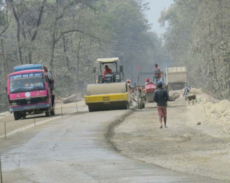 Narayanghat-Mugling road work moving at snail's pace