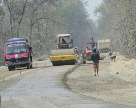 Narayanghat-Mugling road work moving at snail's pace