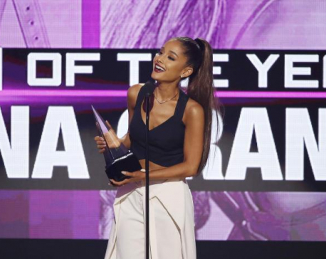 Ariana Grande wins top American Music award, Green Day takes aim at Trump