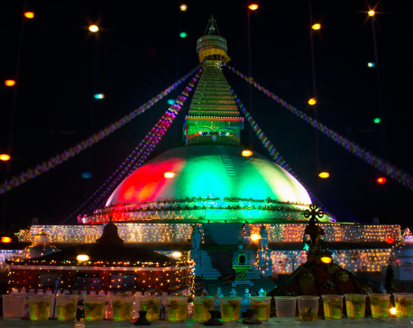 The renovated Bauddhanath Stupa (photo/video)