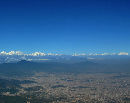 Witnessing majestic mountains from Chandragiri Hill