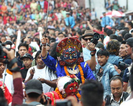 In pictures: Indrajatra at Basantapur