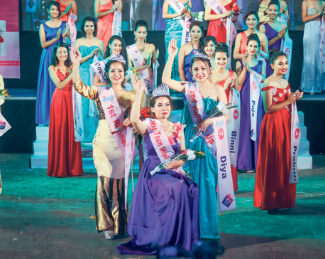 Sanju Moktan, winner of 'Enchanteur Miss Teen Nepal 2017'