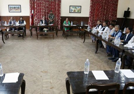 PM Dahal discusses constitution amendment with Madhesi leaders