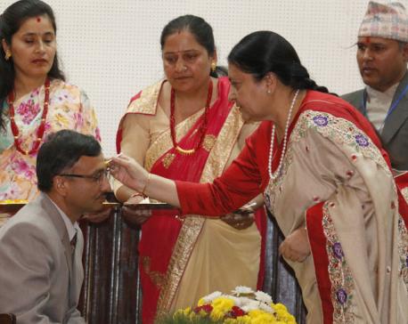 President Bhandari offers Bhaitika