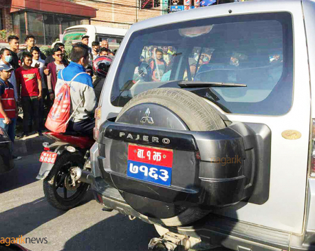 Biker injured after being hit by state minister's vehicle