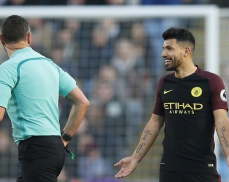 Aguero double leads Man City to win at Burnley