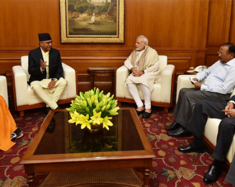 Deuba meets Indian PM Modi in New Delhi