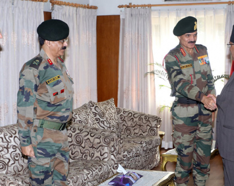 Visiting Indian Army Chief Singh calls on PM Dahal