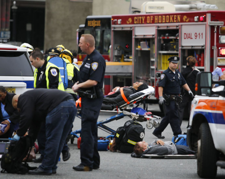 More than 100 injured in New Jersey commuter train crash