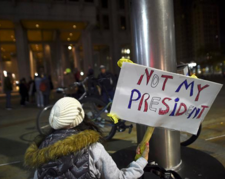 Thousands of students carry protests against Trump into second week