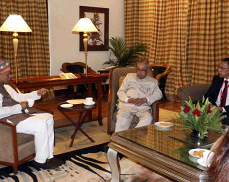 Former Prez Yadav meets Indian Prez Mukherjee
