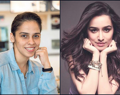 Saina Nehwal trains Shraddha for biopic