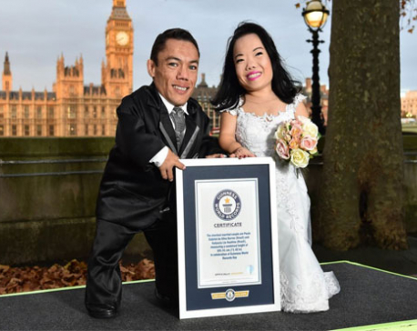 World's shortest married couple gets Guinness verification