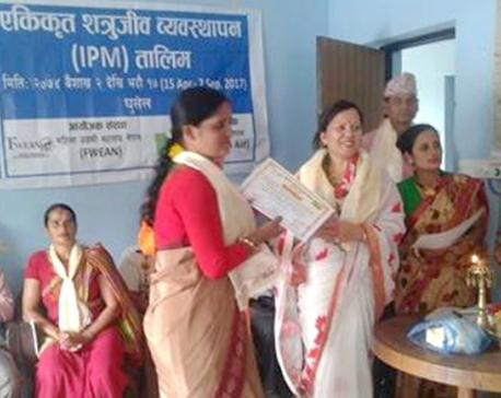 Agro-training transferring lives of rural women