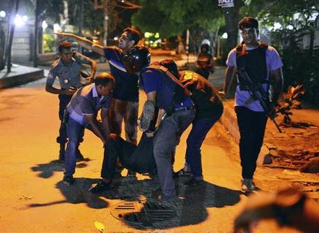 Militants take hostages at Bangladesh restaurant; 2 dead