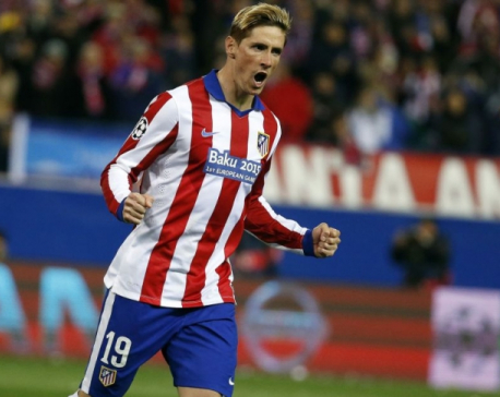 Atletico's Torres set to return for Bayern clash