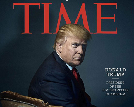 Did Time magazine give Trump devil horns?