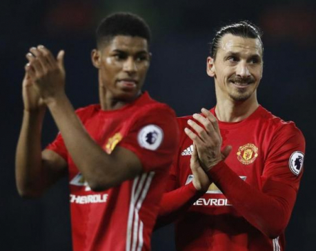 "Mourinho hails Zlatan the ""superman"" after United win"