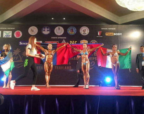 Maharjan wins bronze at World Bodybuilding Championship