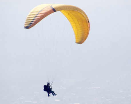 Commercial paragliding starts in Dharan (photo feature)
