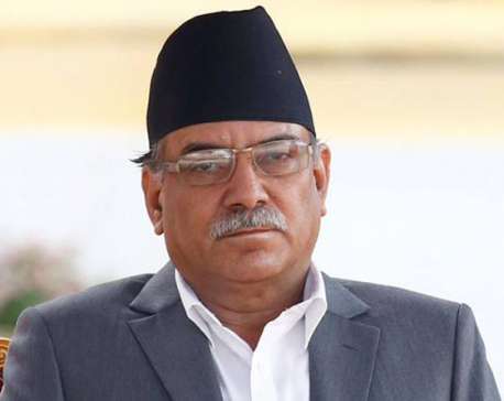 PM Dahal greeted with black flags in Dhangadhi