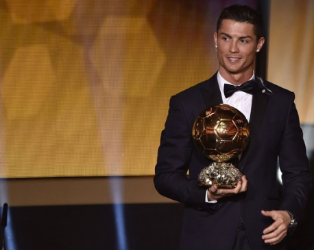 Ballon d'Or: Ronaldo voted best in the world for 4th time