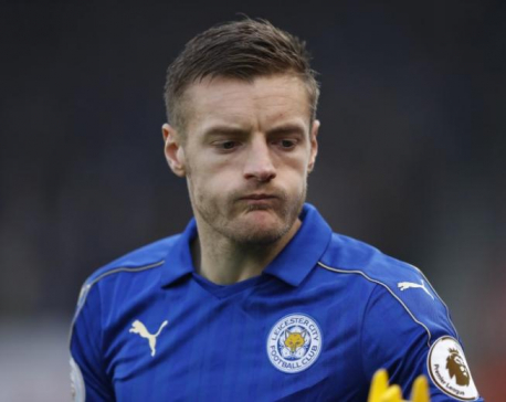 Leicester's Vardy to serve three-game ban after appeal rejected