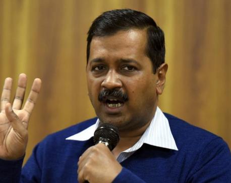 Shoe thrown at Kejriwal, who blames Modi