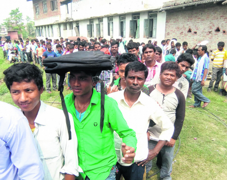 Jobless Madhesi youths eager to sign up as poll security cops