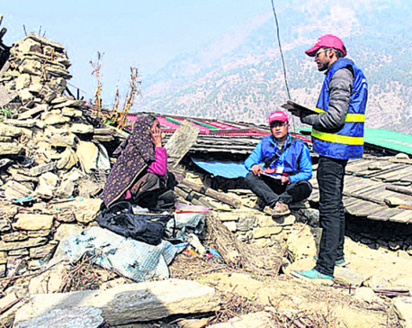 Quake victims complain reconstruction too slow