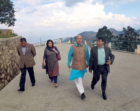 India's BJP leader Vijaya Jolly visits Chandragiri Hills