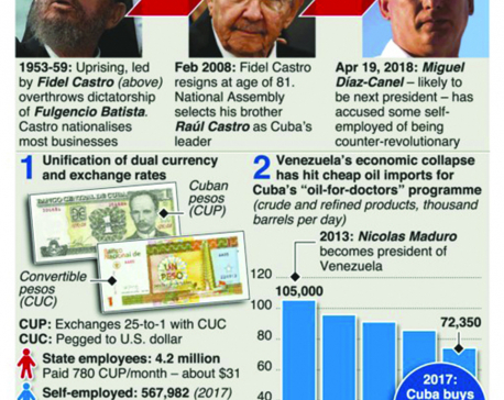 Infographics:  Issues facing Cuba's next leader