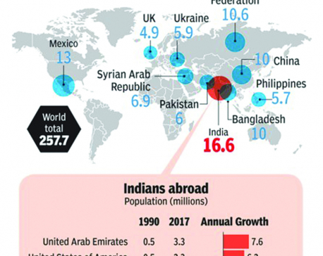 Infographics: India has world's largest diaspora