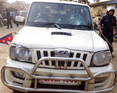 Minister's vehicle vandalized in Karnali Province