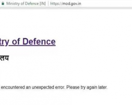 India's Ministry of Defense website hacked