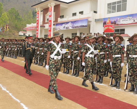 CoAS Chhetri inspects passing out parade