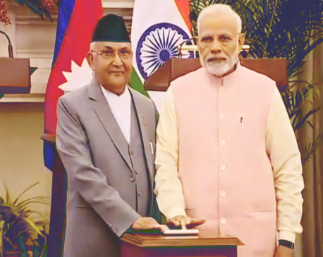 PM Oli, Modi jointly inaugurate Birgunj ICP and  laid foundation of petroleum pipeline project