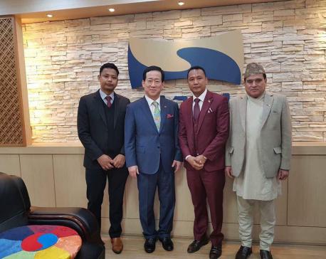 Taekwondo master Chhetri felicitated in Seoul