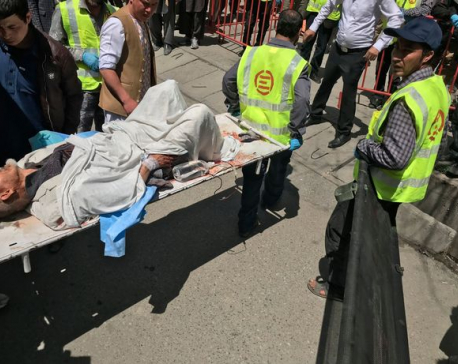 ISIS claims responsibility for suicide blast that killed at least 31 people at voter registration centre in Kabul