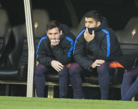 Barca boss defends decision to rest Lionel Messi, Luis Suarez and Co for Barcelona's draw