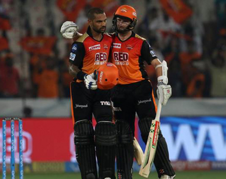 Dhawan dazzles as Sunrisers waltz past Rajasthan