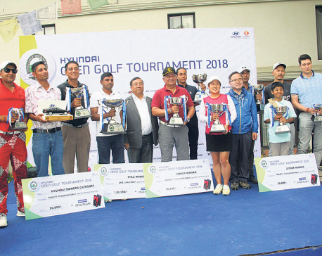 Rabindra Tiwari wins Hyundai Open Golf Tournament