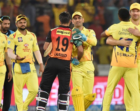 Chennai Super Kings beat Sunrisers Hyderabad by four runs