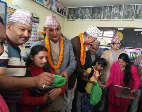 Pushpa Kamal Dahal, ministers enroll 16 children