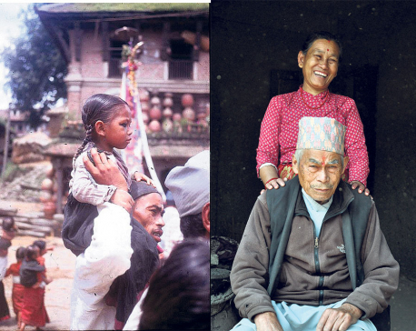 Photo of child and father finds them 50 years later